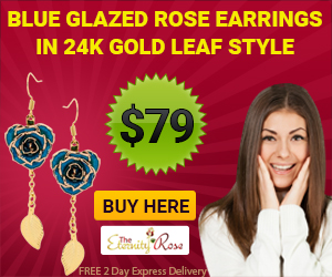blue earrings for her - golden anniversary surprise